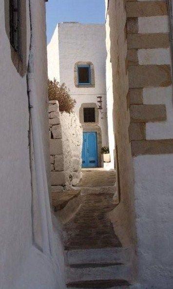 Patmos, light blue light by ourania