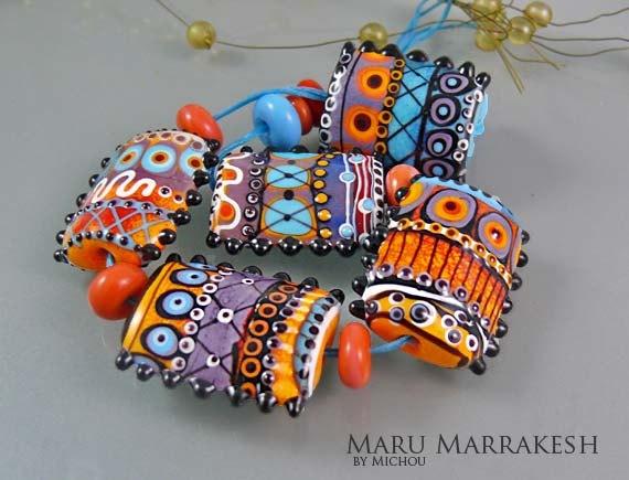 beautiful lampwork beads by etsy seller