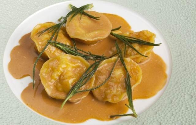 Richard Corrigan's crab ravioli. ( pasta dough recipe)