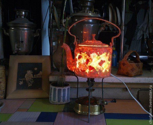 Мастер-класс: делаем необычный чайник-светильник из папье-маше - Ярмарка Мастеров - ручная работа, handmade