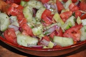 Tomato, Onion, and Cucumber Salad by Rachel Ray