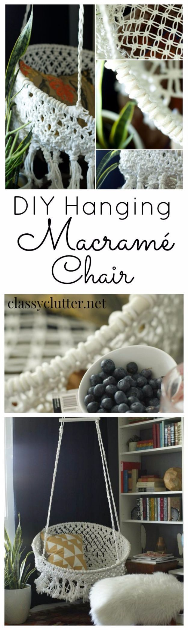 DIY Teen Room Decor Ideas for Girls | DIY Hanging Macrame Chair | Cool Bedroom Decor, Wall Art & Signs, Crafts, Bedding, Fun Do It Yourself Projects and Room Ideas for Small Spaces http://diyprojectsforteens.com/diy-teen-bedroom-ideas-girls