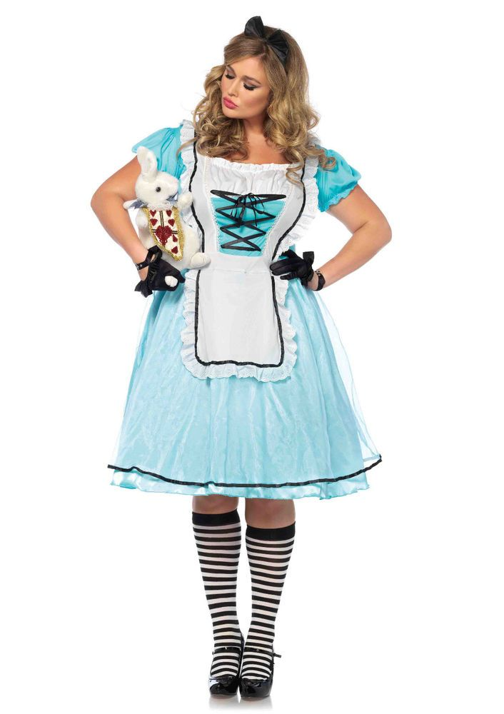 New Leg Avenue 85597X PLUS SIZE Tea Time Alice Female Adult Costume  #LegAvenue
