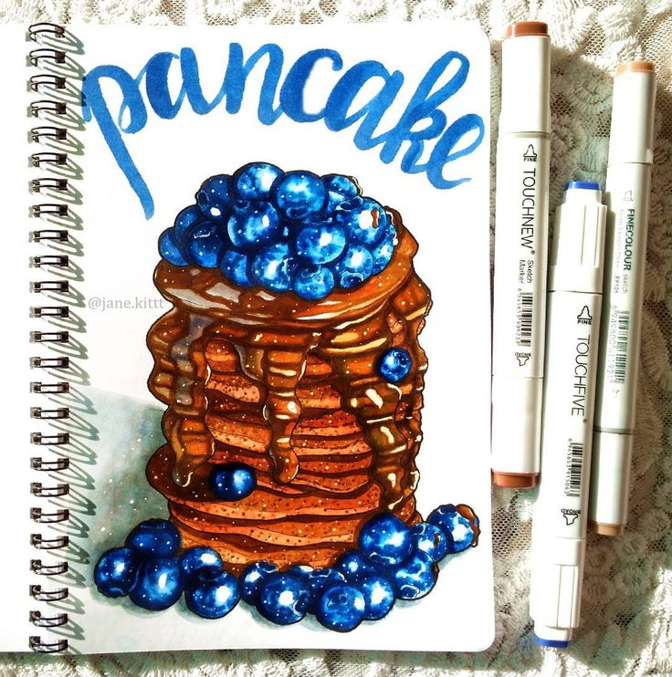 Thank you talented @endorphilia Here is a result - chocolate is never too much Chocolate pancakes coated with chocolate and blueberries А вот и сам результат - шоколада много не бывает! Шоколадные панкейки покрытые шоколадом и черникой #art #creative #instaart #artist #illustration #leuchtturm1917 #copic #touchmarker #copicart #markers #pancakes #draw #colorful #foodart #food #рисуюназаказ #topcreator #chocolate #drawing #sketch #sketchbook #blueberry #artwork #иллюстрация #маркеры #скетчбук…