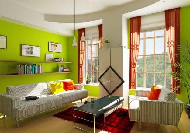 Verde acido - Come abbinare i colori delle pareti verde acido al resto dell'arredamento.