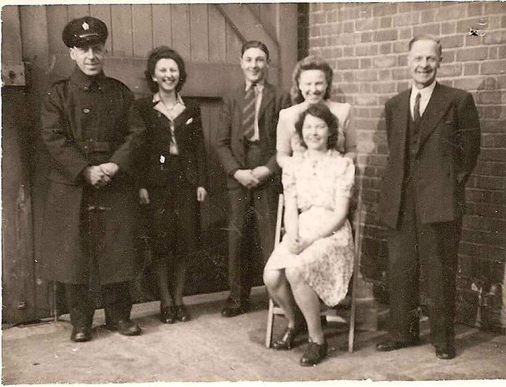 On the right my grandfather Bert Wass when he was working as a caretaker at the Home Office.