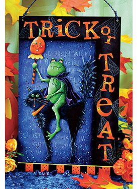 Trick Or Treat Plaque By Chris Haughey From The Book Double Trouble