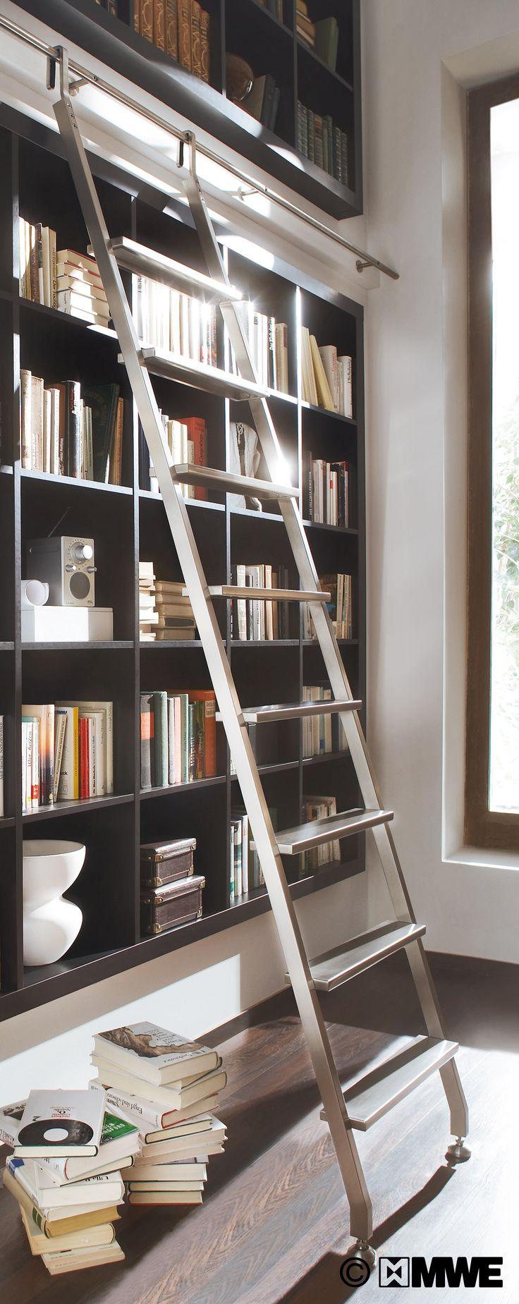 AKZENT hook ladder manufactured by MWE // Designed by Mario Wille // www.mwe.de/en/sliding-ladders/hook-ladders/hook-ladder-akzent