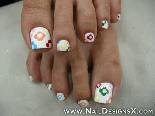 flower 9 nail art