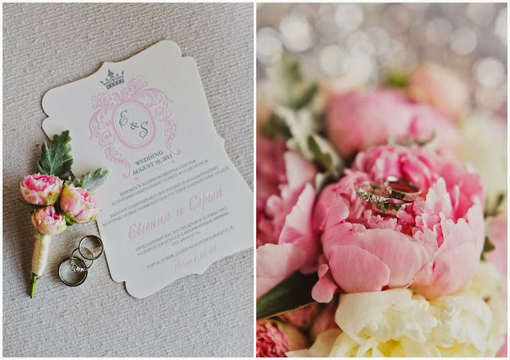 Августовская свадьба Евгении и Сергея - flowerbazar.ru  букет невесты, пионы, приглашение, высокая печать