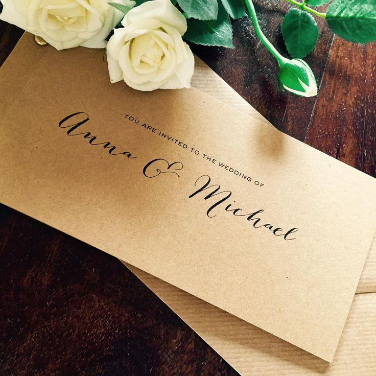 Rustic Anna Cheque Book Wedding Invitation