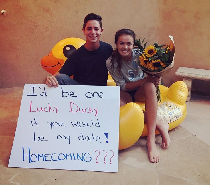 Lucky Ducky Homecoming Proposal