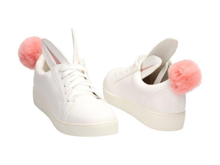 Białe buty damskie VICES 7117-41 KRÓLICZEK / Buty sportowe / Buty damskie - Sklep internetowy z obuwiem Suzana