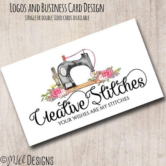 Premade Sewing Logo Sewing Logo Premade Seamstress by MLAdesigns