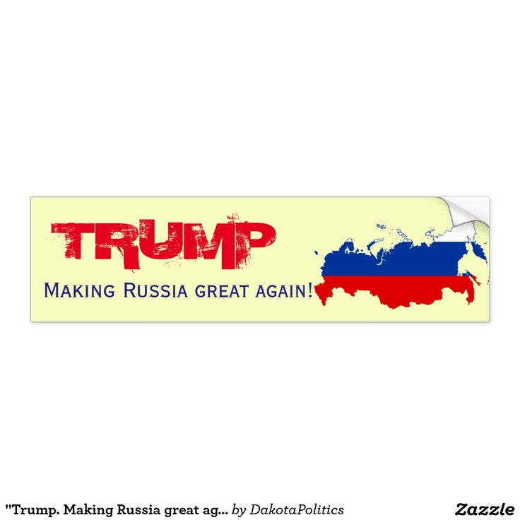 Anti donald trump 9 putin trump make russia great again bumper sticker decal putin trump pinterest donald trump and russia