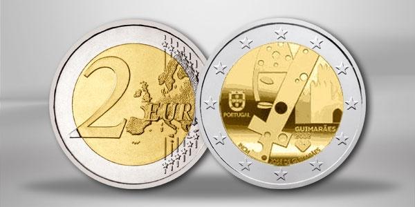 Portugal 2 Euro Sondermünze Guimaraes 2012 zur Feier Europas Kulturhauptstadt 2012