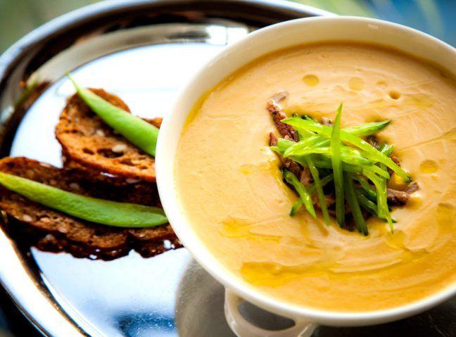 Крем-суп с утиной грудкой