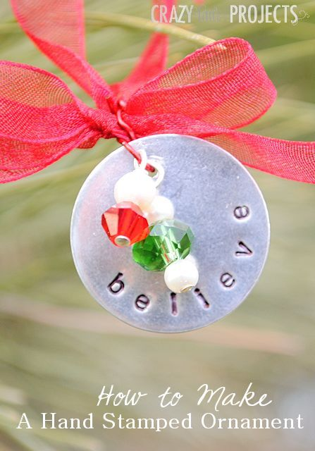 Hand Stamped Christmas Ornament - Crazy Little Projects