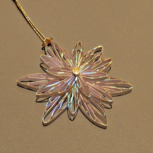 This can be a snowflake ornament or flower necklace depending on your mindset... either way, it's easy to make. Click through for the how-to.