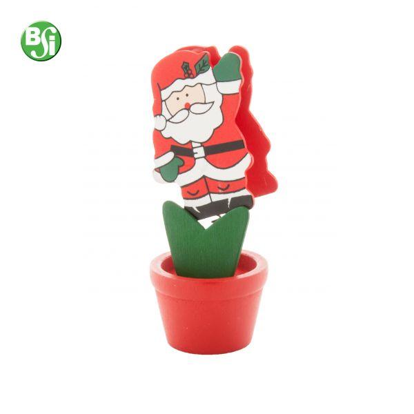 Memo clip in legno con figura di Babbo Natale.  #gadget #gadgetpersonalizzati #clip #gift #memoclip #bsigadget #natale #christmas