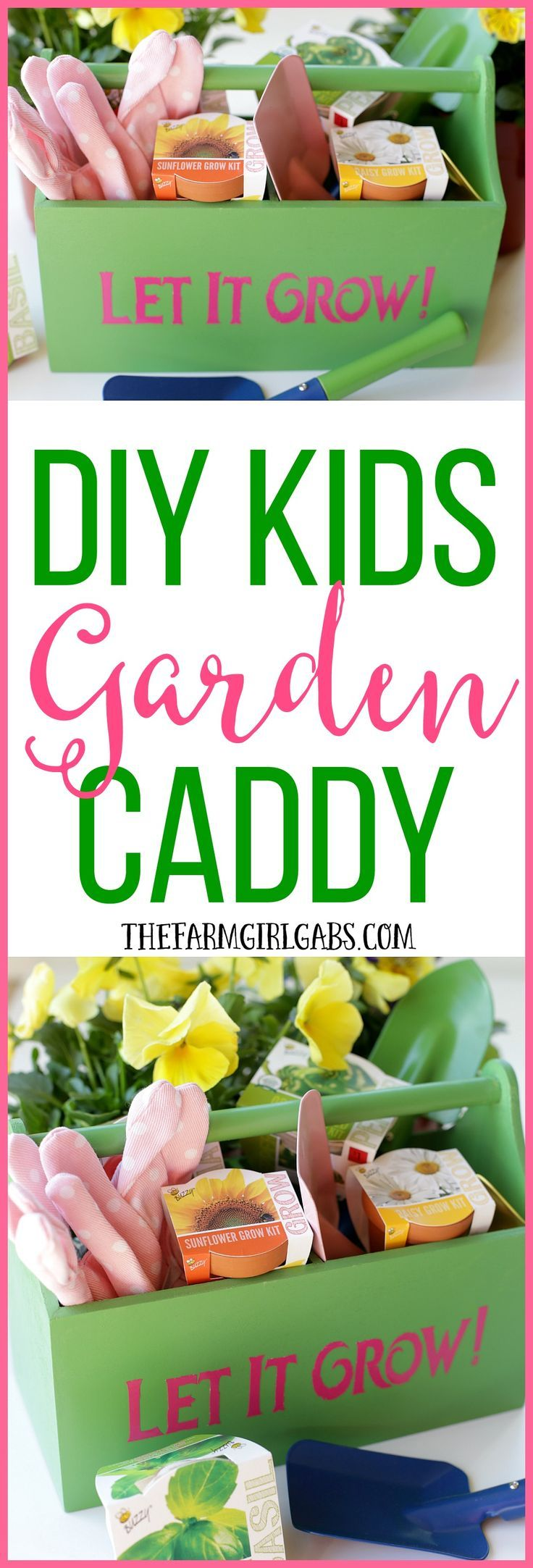 "Your kids will really ""dig"" this DIY Kids Gardening Caddy. It's perfect for carrying their gardening tools. It makes a great gift idea."
