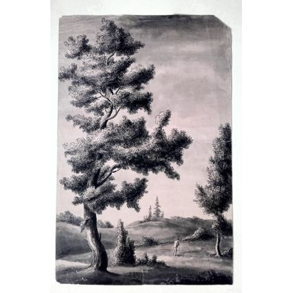 Tuschteckning, 1800-talets första hälft. via Galleri Skott. Click on the image to see more!