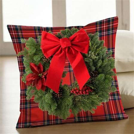 *****  Love this pillow.  Create a uniformed couch and add this Christmas Tartan Cushion