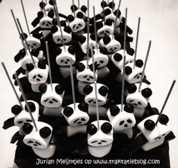 Geweldige panda's als traktatie
