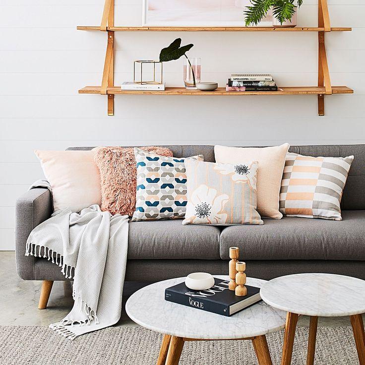Larsen 3 Seater Sofa, Light Grey by Zanui | Zanui