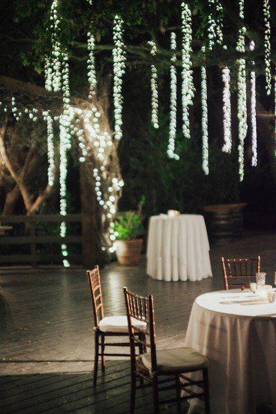 Elegant California Ranch Wedding Wedding Reception Decor