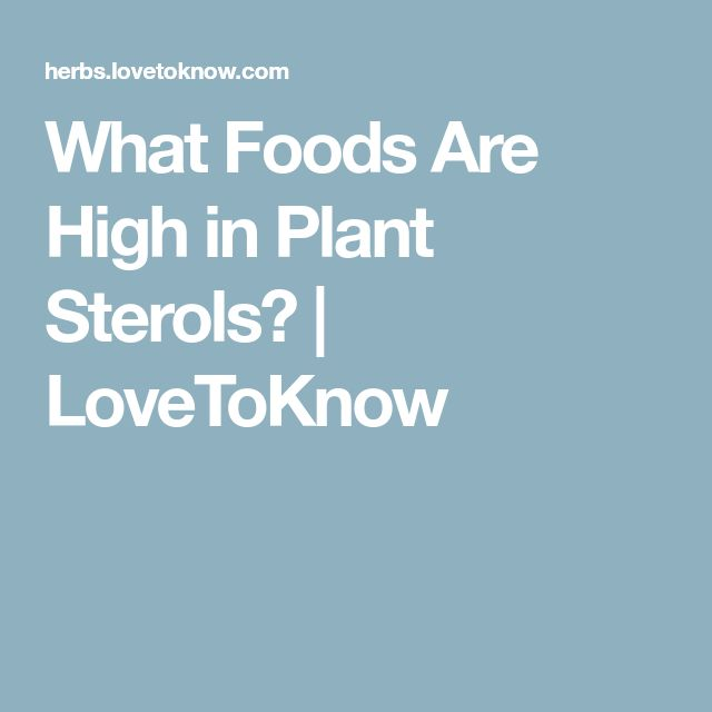 What Foods Are High in Plant Sterols? | LoveToKnow