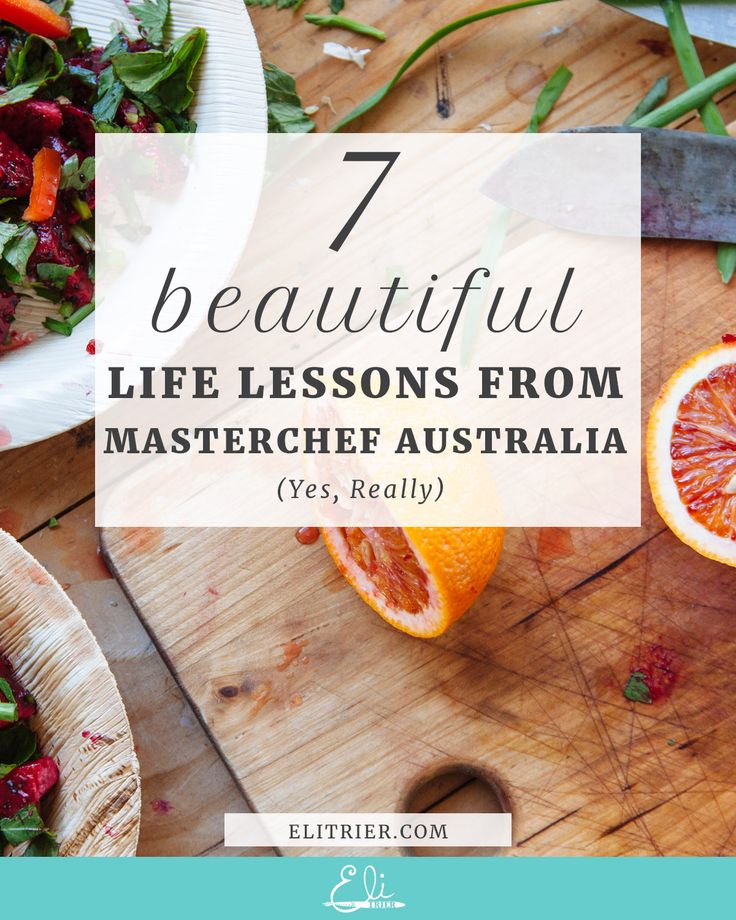 Artist | Creativity | Creative Block | Creative Fear | Inner Critic | Self Care | Ritual | I have a dirty little secret. I have become completely obsessed with Masterchef Australia. It started innocently enough...