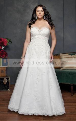 Lace-up Chapel Train A-line Empire Sweetheart Wedding Dresses hdcf1105--Hodress
