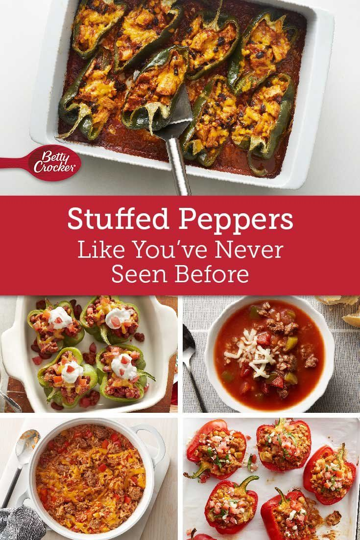 Been There Tasted That Not With These Clever Stuffed Pepper Spins Try Them All And See How Many Ways Stuffed Peppers Dinner Casserole Recipes Cooking Recipes