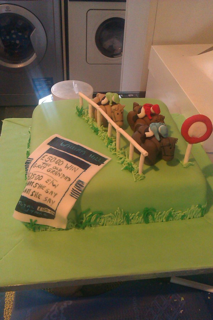 Horse Racing Cake With Edible Betting Slip Please Feel