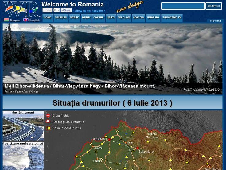 Last updated situation of national roads http://www.welcometoromania.ro/Romania/Romania_Harta_Drumuri_e.htm