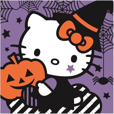 Download this supercute Hello Kitty stencil for your next pumpkin carving project