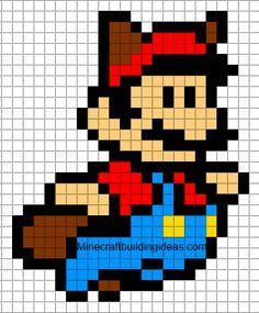 Minecraft Pixel Art Templates: Mario