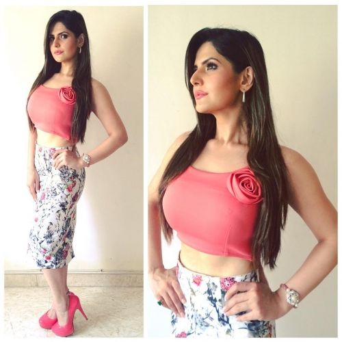 Zareen Khan Wearing Amy Billimoria for Trailer Launch of Hate Story 3