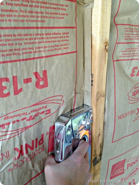 how to install insulation and drywall