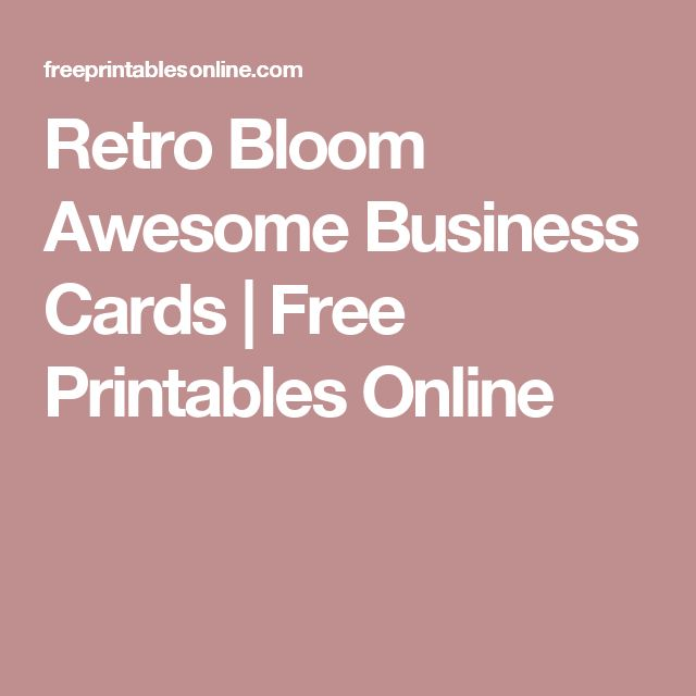 The 25+ best Free printable business cards ideas on Pinterest ...