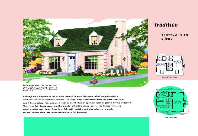 Cape cod house plans sold to mid century americans house for Cape cod floor plans 1950