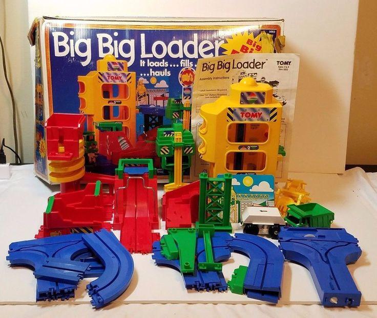 Vtg Tomy Big Loader Construction Toy Playset Set Electronic Train Dump Truck Box #Tomy
