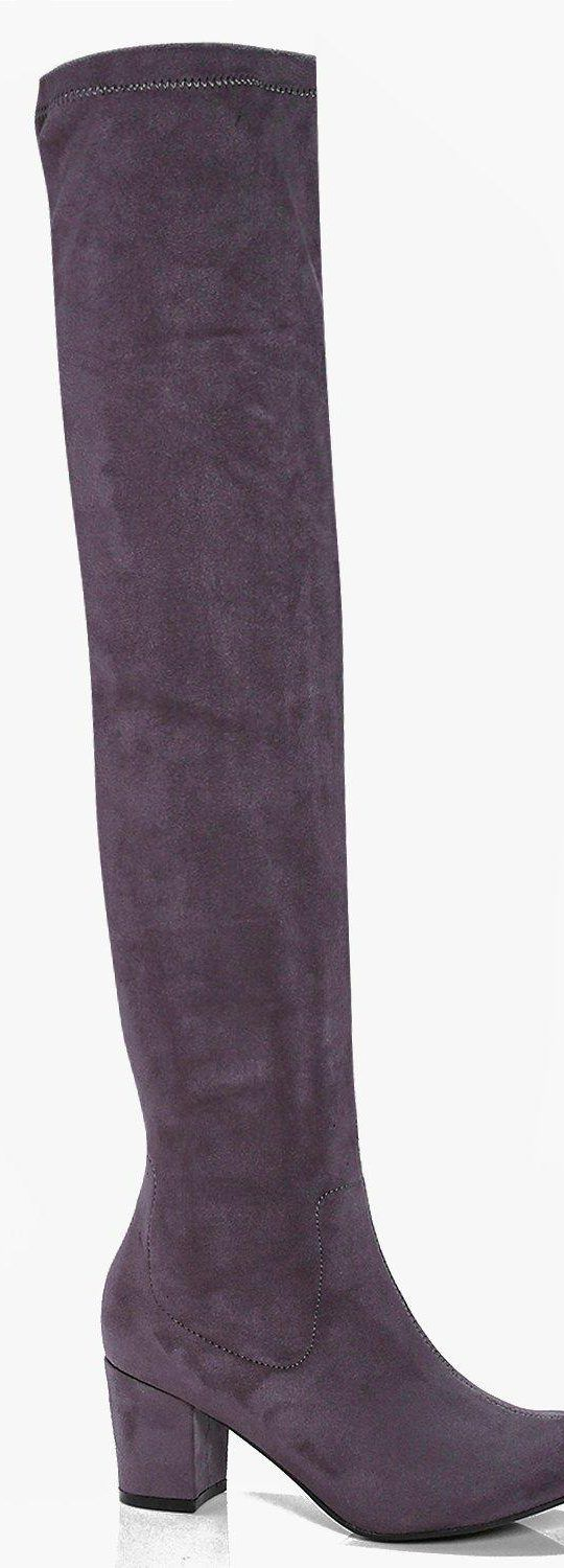 Lena Block Heel Stretch Knee High Boot - Boots  - Street Style, Fashion Looks And Outfit Ideas For Spring And Summer 2017