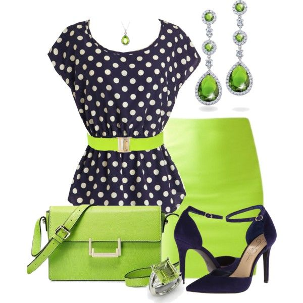 """Verde impactante!"" by marisol-menahem on Polyvore"