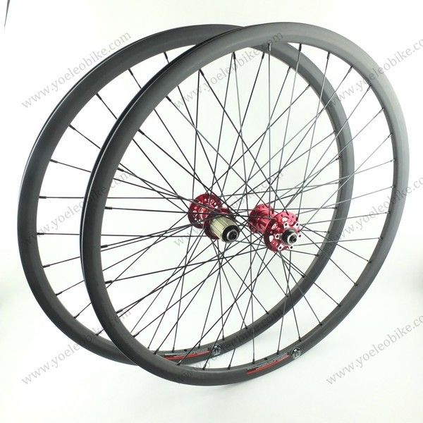 26'' MTB Carbon Wheels Clincher 22MM with Novatec Hubs D711SB/D712SB-AA