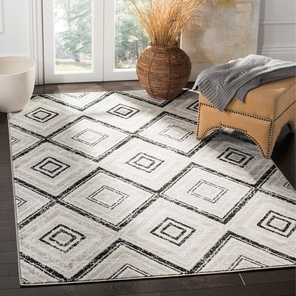 Shop Safavieh Skyler Vintage Geometric Grey Black Rug 9 X 12 On Sale Free Shipping Today Overstock 22709303 Geometric Area Rug Area Rugs Rugs