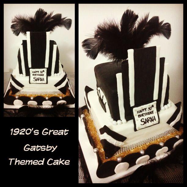 Great Gatsby Inspired Birthday Cake