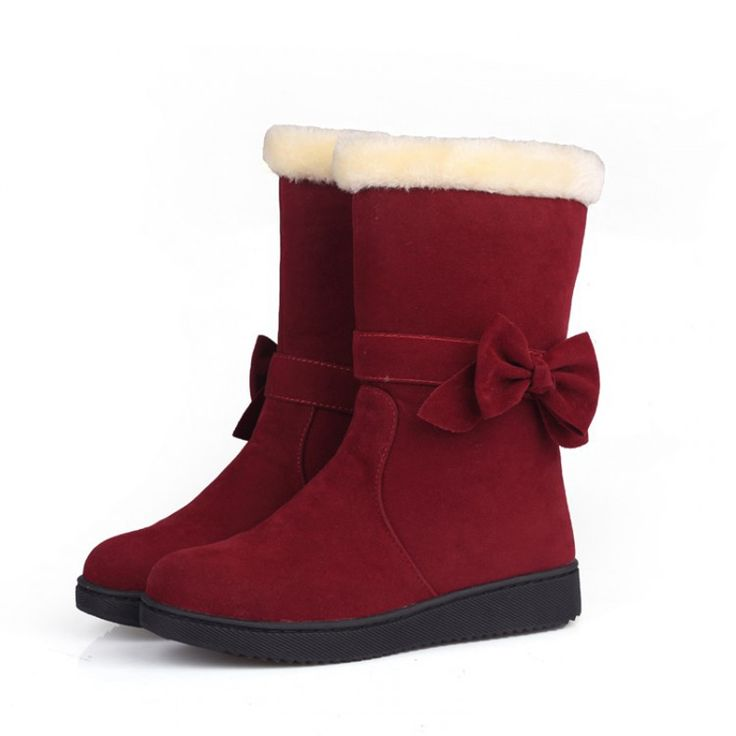 Zoete boog zapatos mujer platte botas voor vrouwen warm dames antislip snowboots vrouwen winter laarzen vrouw schoenen WSH997 in  van vrouwen laarzen op AliExpress.com | Alibaba Groep