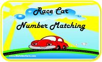 File Folder Farm: Race Car Number Matching